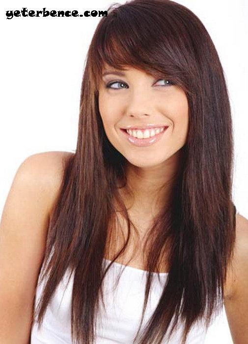 uyumlu saç modelleri, kahküllü modeller, Keskin ve sert hatlar